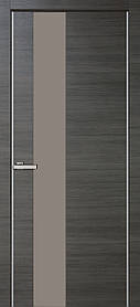 Межкомнатные двери пвх Alumo 03 graphite ash line
