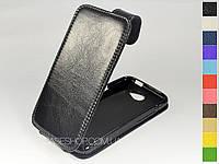 Откидной чехол из натуральной кожи для HTC One X+ (s728e)
