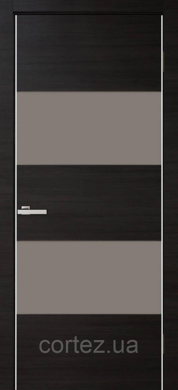 Межкомнатные двери пвх Alumo 04 graphite wenge line