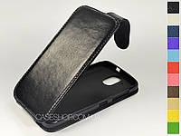 Откидной чехол из натуральной кожи для HTC Desire 326G
