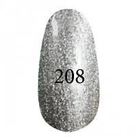Гель-лак  Kodi 8 мл № 208 серебряный с перламутром
