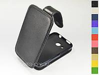 Откидной чехол из натуральной кожи для HTC Desire 200