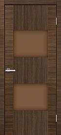 Межкомнатные двери ПВХ Deco 03 (трюфель) дуб amber line