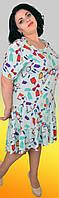 Расклешенное каскадное повседневное платье с воланами для нестандартной фигуры, большие размеры