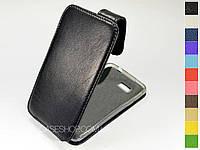 Откидной чехол из натуральной кожи для HTC Desire 400