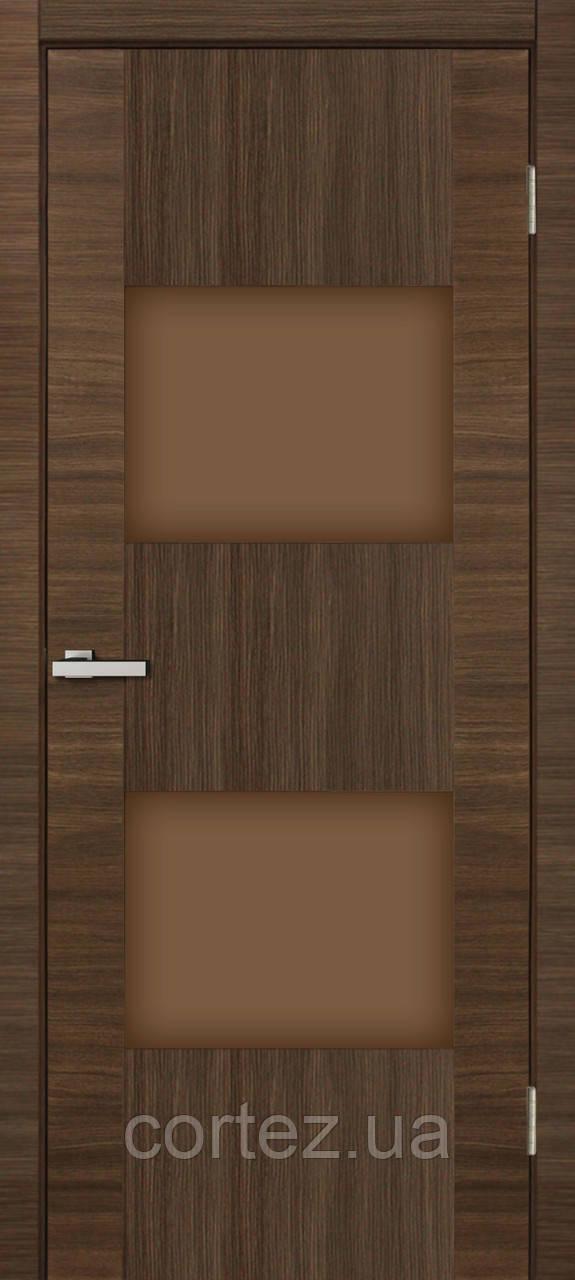 Межкомнатные двери пвх Deco 05 дуб amber