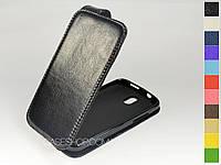Откидной чехол из натуральной кожи для HTC Desire 500