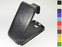 Откидной чехол из натуральной кожи для HTC Desire 516 Dual Sim