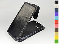 Откидной чехол из натуральной кожи для HTC Desire 600 Dual Sim