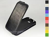 Откидной чехол из натуральной кожи для HTC Desire 601