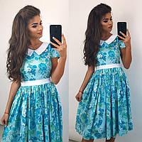 Женское платье (42,44,46) —коттон  купить в розницу в одессе  7км