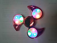 Спиннеры хром с LED подсветкой оптом Fidget spinner цвета есть разные купить не дорого