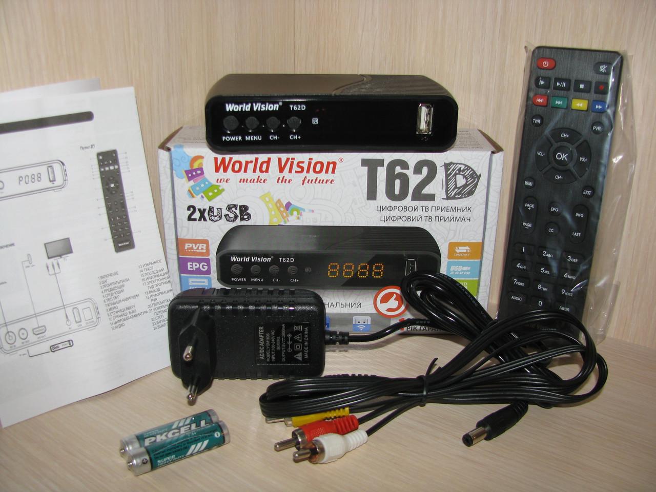 World Vision T62D + AC3 + IPTV + YouTube (тюнер Т2)