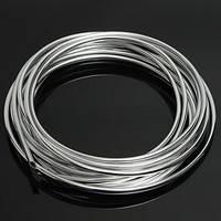 Молдинг автомобильный защитный резиновый серебро 5м