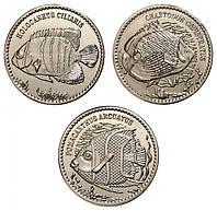 Набор монет Рыбки о-ва Авокарде 10 рупий 2013 (3 шт), фото 1