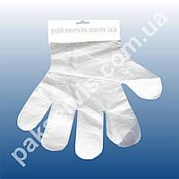 Перчатки полиэтиленовые на планшетке 1/100