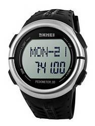 Часы наручные пульсометр шагомер Skmei 1058 Black