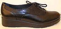 Туфли женские кожаные на танкетке, кожаные туфли женские от производителя модель БМ59К