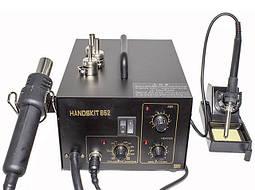 Паяльная станция 2в1 HandsKit 852 (паяльник+компрессорный фен)