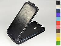 Откидной чехол из натуральной кожи для HTC Desire 700