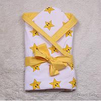 Яркий летний конверт-одеяло на выписку из роддома, Smile