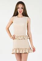 Витончене жіноче бежеве плаття Melisa (XS-XXL)
