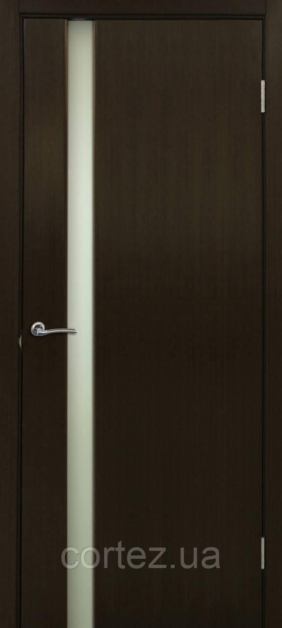 Межкомнатные двери пвх Премьера 1 ПО венге со стеклом