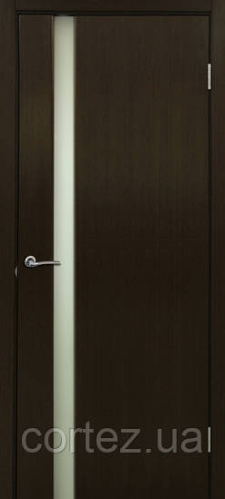купить межкомнатную дверь цвета венге со стеклом в магазине Cortez