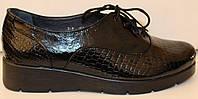 Туфли женские лаковые на танкетке, кожаные туфли женские от производителя модель БМ59Л