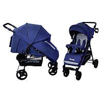 Коляска прогулочная CARRELLO Strada CRL-7305 Blue резиновые колеса