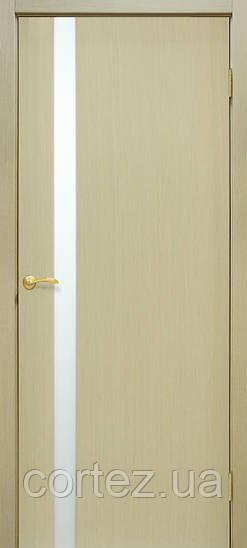 Межкомнатные двери шпон Премьера 1 ПО дуб беленый