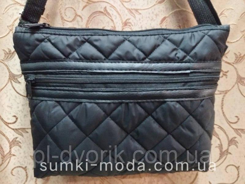 Клатч женский Сумка стеганная/Женские сумка стеганная/Сумка для через плечо планшеты  черный