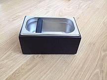 Нок бокс для кофе деревянный | с емкостью из нержавеющей стали | черный | 2,7 л