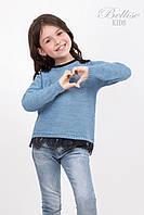 Красивая детская кофта с ажурным кружевом