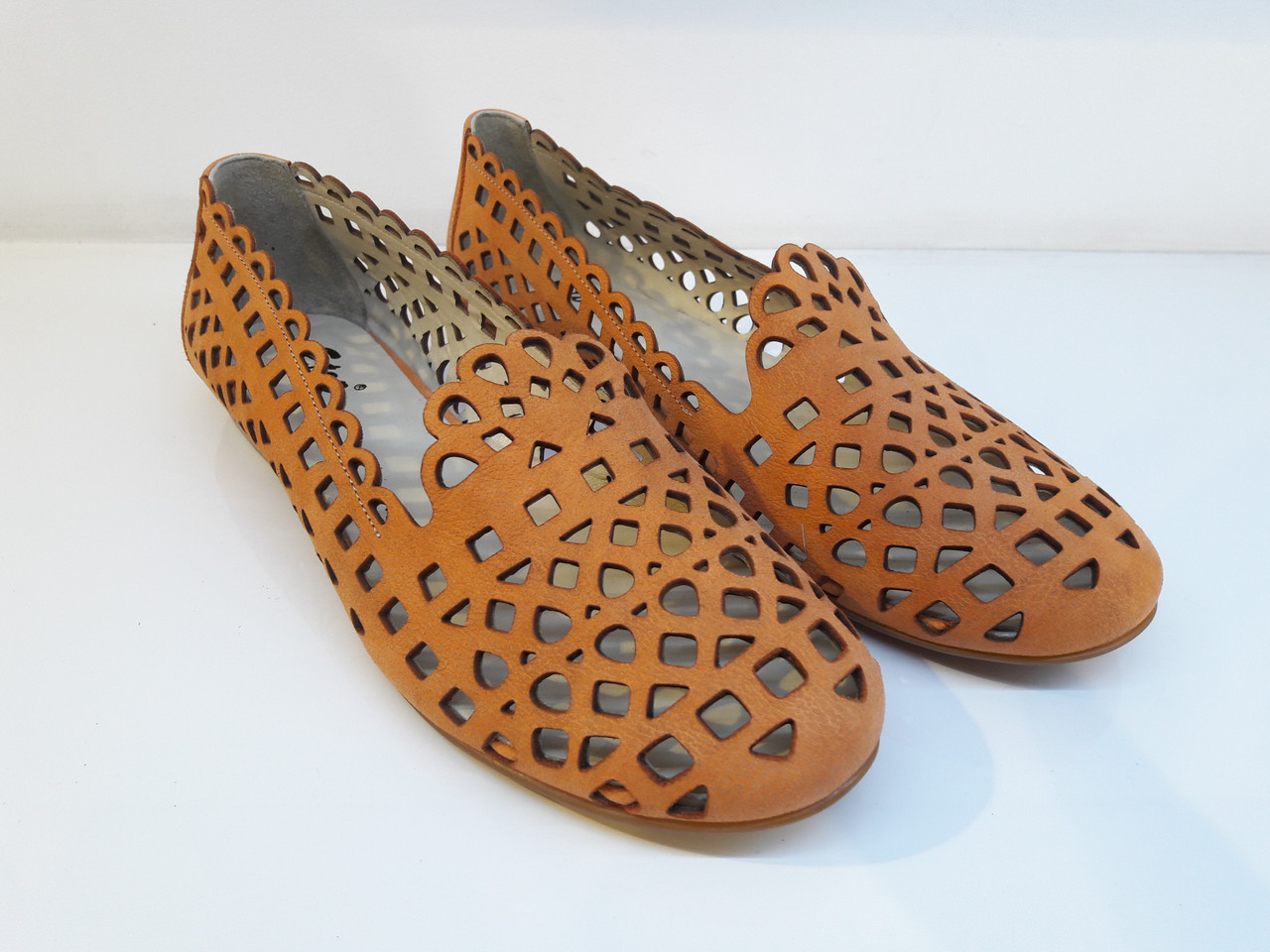 Балетки Etor 4524-1129 36 оранжевые