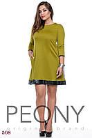 Платье Огайо (50 размер, оливковый) ТМ «PEONY»