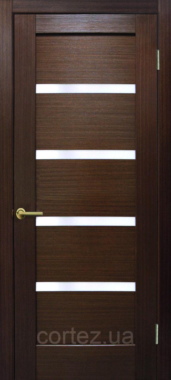 Межкомнатные двери пвх Лондон ПО орех FL