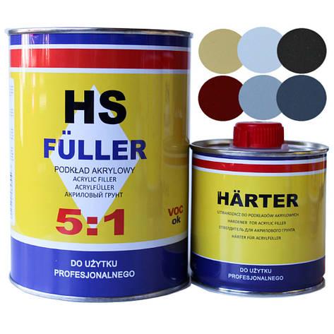 Грунт акриловый HS Fuler 5+1 1 л Moto Gamma Желтый, фото 2