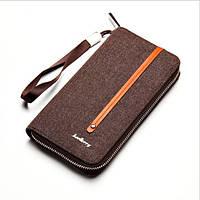 Клатч портмоне Baellerry s1523Br тканевый коричневый, фото 1