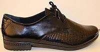 Туфли женские лаковые на каблуке, кожаные женские туфли от производителя модель БМ65Л