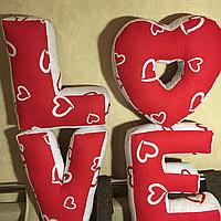 Буквы Подушки Love.