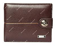 Чоловічий гаманець коричневий на магніт (538-1)