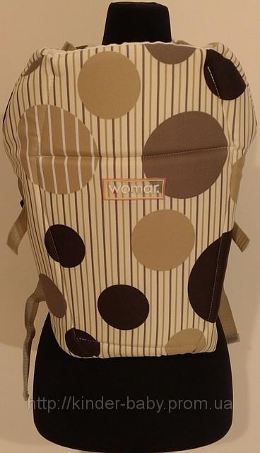 Рюкзак переноска  для детей Womar  GLOBETROTER №7 excluzive ( бежевый в кружочек )