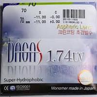 Очковые линзы Dagas 1.74 AS Super-Hidrophobic UV400