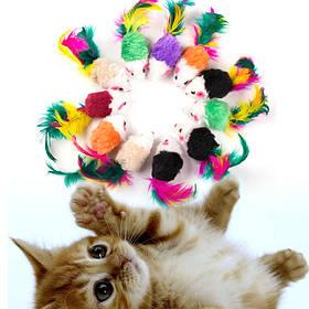 Мишки,м'ячики та інші іграшки для кішок і кошенят