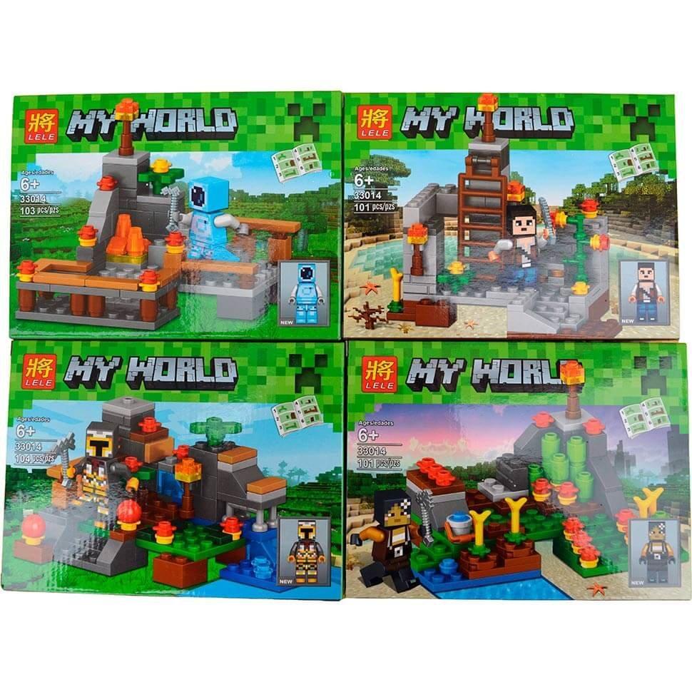 Детский конструктор Minecraft  Lele 33014