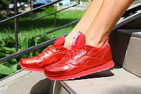 Женские Кроссовки Reebok натуральная кожа цвет: красный хамелион