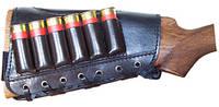 Патронташ кожаный на приклад 12к.6патр. Медан 2003