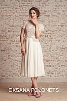 Стильна ексклюзивна сукня з вишивкою, фото 1