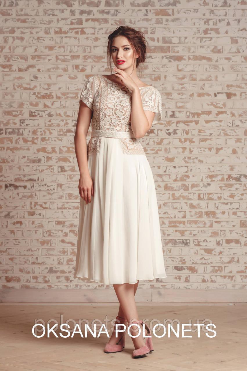 Стильна ексклюзивна сукня з вишивкою - Дизайн-студія Оксани Полонець в Киеве 3006e304c2a66